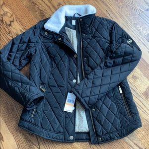 NWT Black Quilted Jacket by Michael Kors in size S